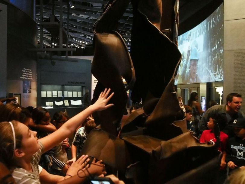 A piece of steel from the World Trade Center