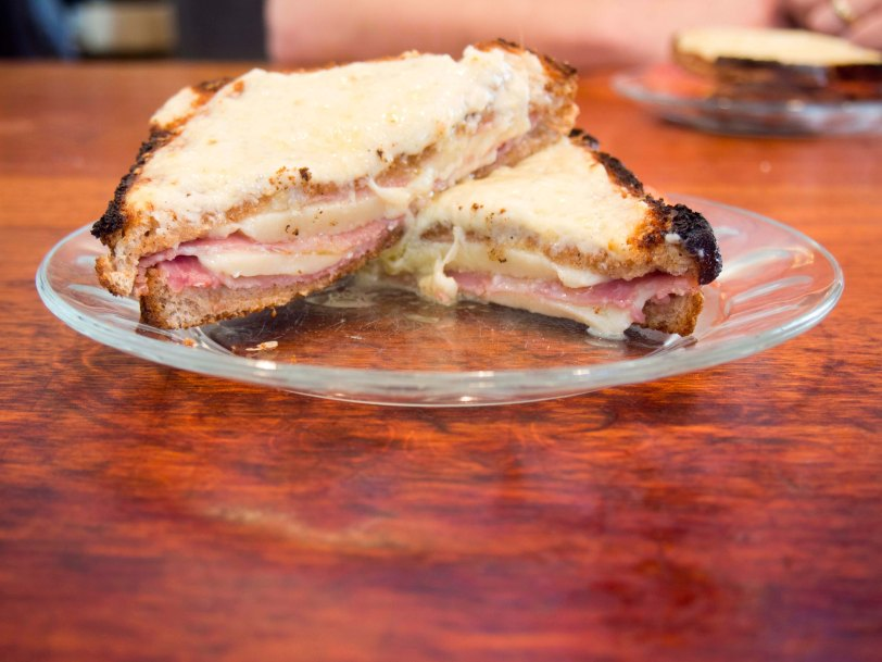 Croque Monsieur French Ham and Cheese Sandwich