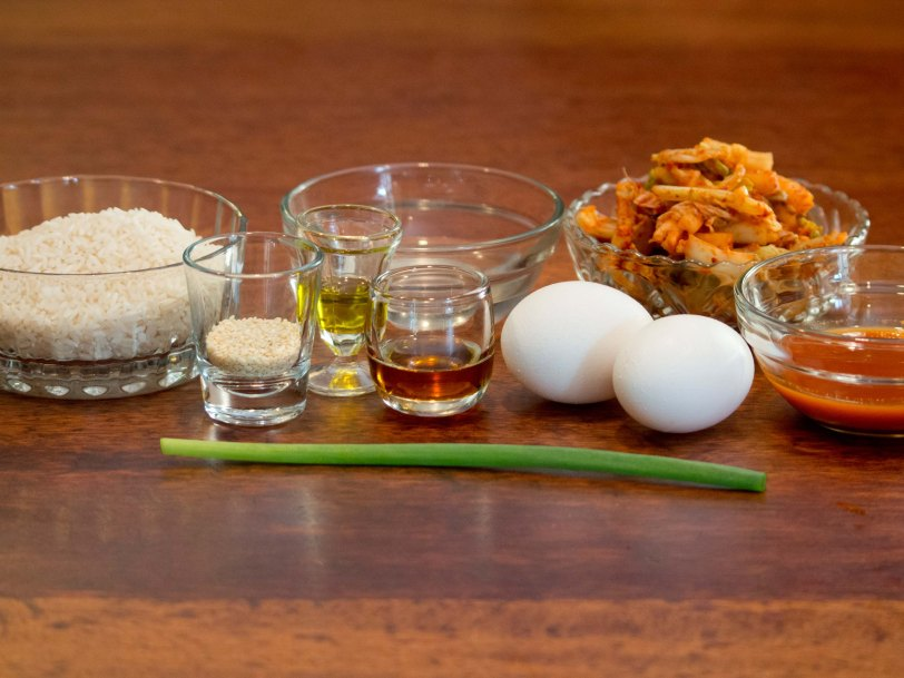 Ingredients for Kimchi Fried Rice
