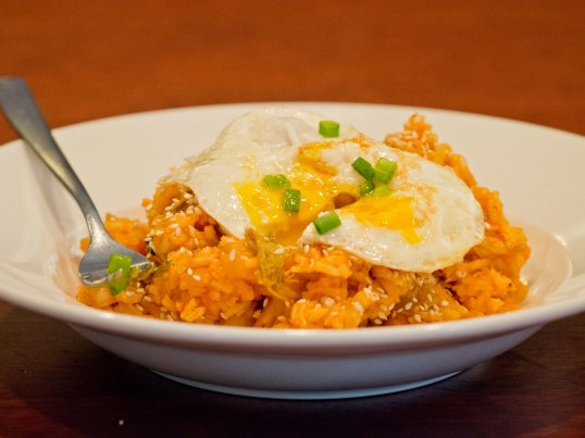 Kimchi Fried Rice in Bowl